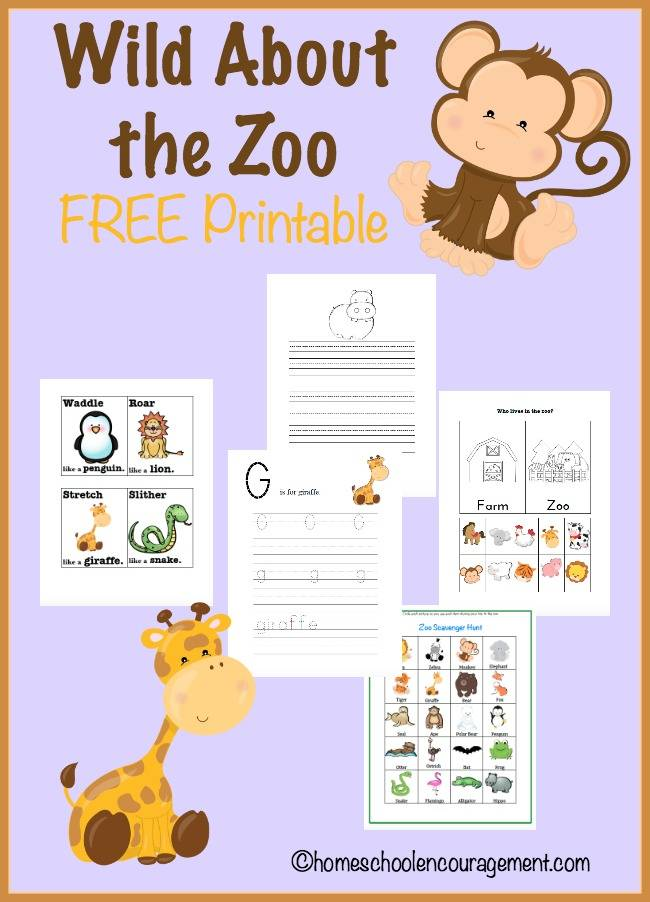 FREE Zoo Unit Study and Printables : Free Homeschool Deals
