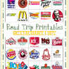 FREE Road Trip Game Printables