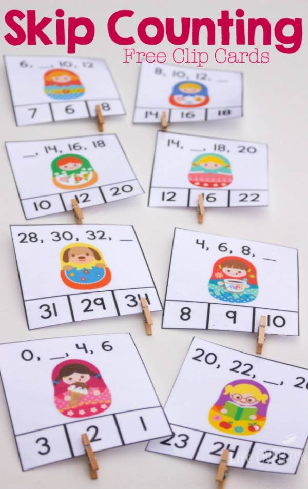 Free Skip Counting Clip Cards Free Homeschool Deals
