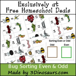 FREE BUG SORTING EVEN & ODD PACK (instant download)