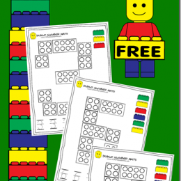 FREE Number Mats with Lego Duplo Theme