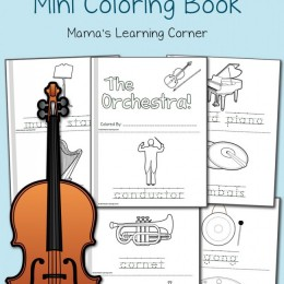 FREE Orchestra Coloring Pages Mini-Book