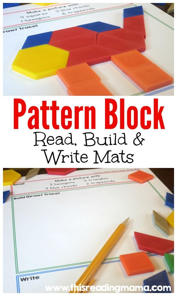 Free Pattern Block Read And Write Mats Free Homeschool