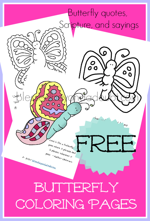 FREE Butterfly Coloring Pages with