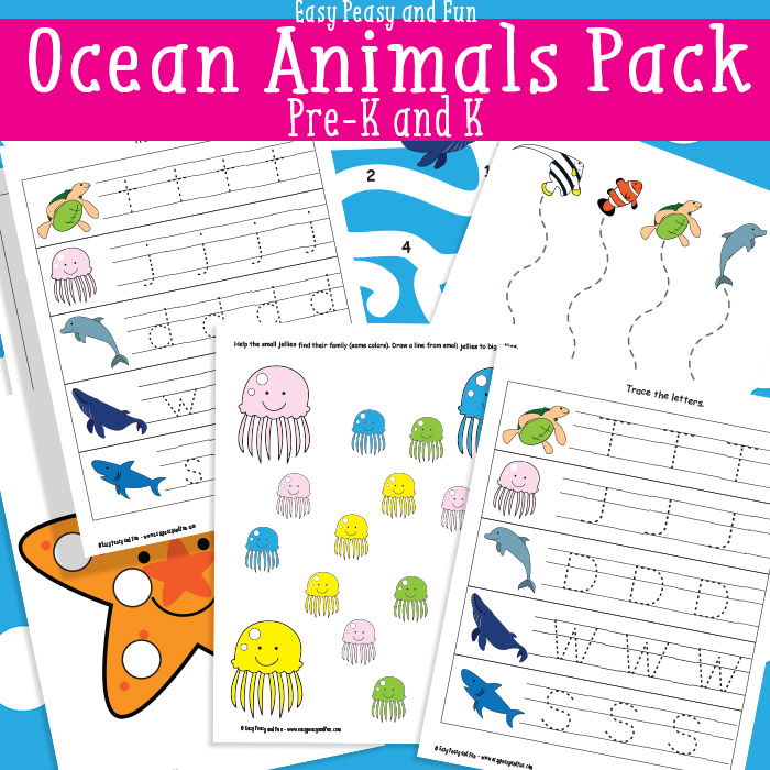 FREE Ocean Animals PreK K Pack