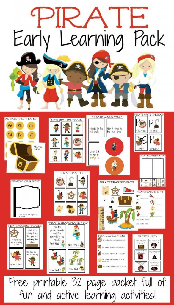 Free Pirate Early Learning Pack Free Homeschool Deals