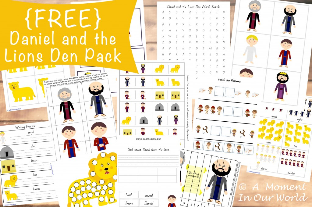 FREE Daniel and the Lions Den pack : Free Homeschool Deals