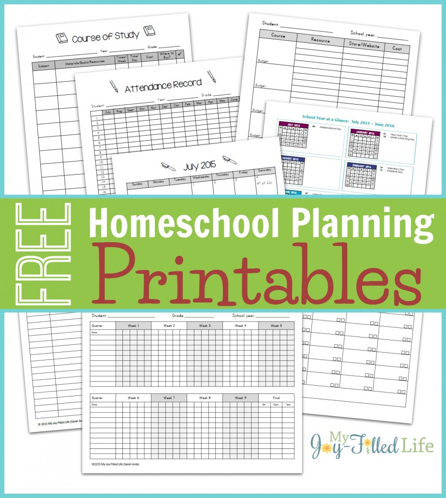 Must Read Homeschool Articles For Encouragement And: FREE Homeschool Planning Printables 2015-16
