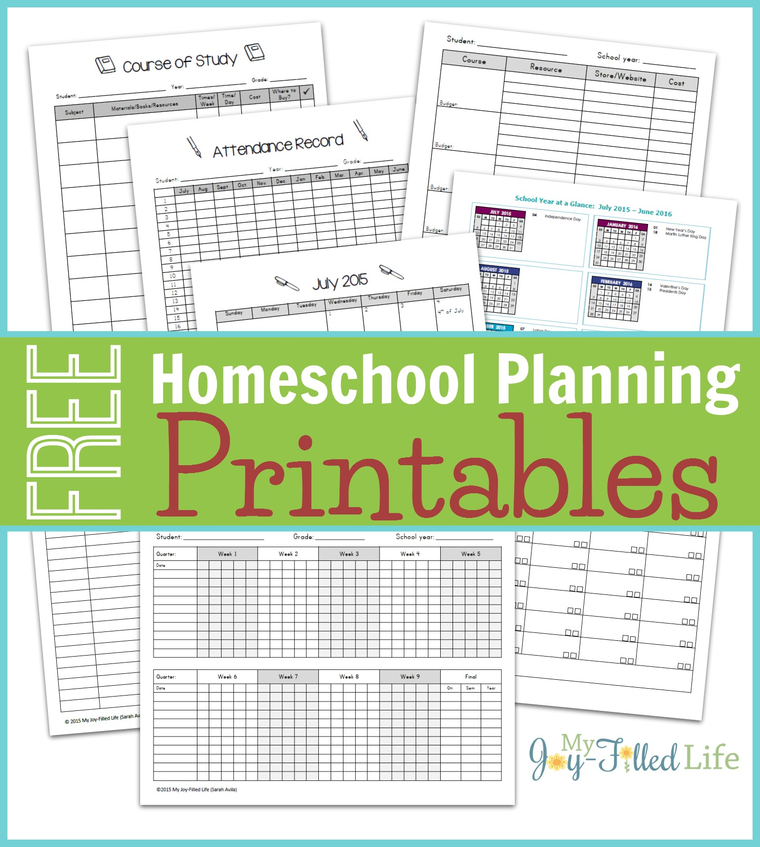 It is a graphic of Playful Printable Homeschool Worksheets