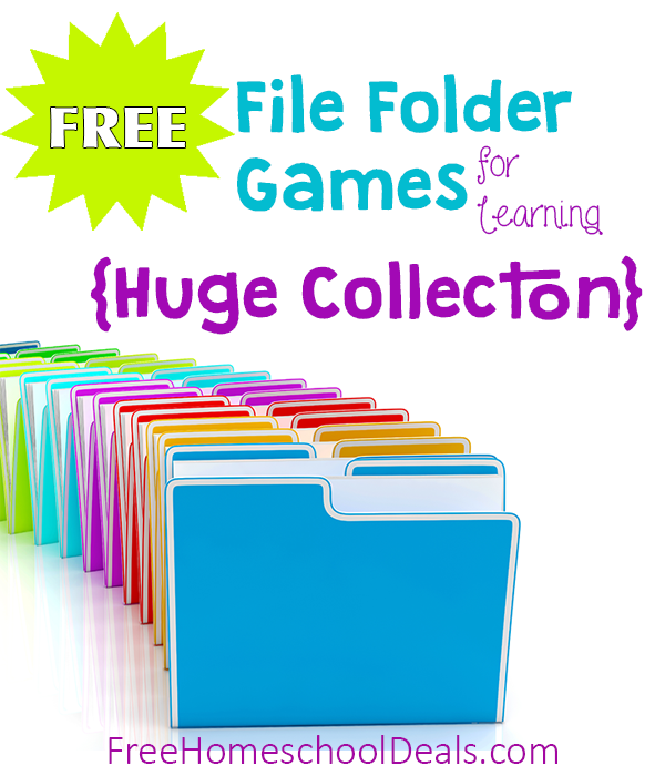 free file folder game templates - huge list of free homeschool curriculum resources