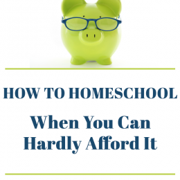 Homeschooling When You Feel Like You Can't Afford It