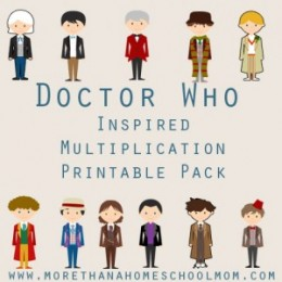 FREE Doctor Who Inspired Multiplication Printable Pack