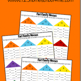 FREE Math Fact Family Worksheets