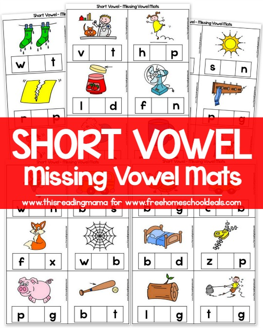 Free Short Vowel Missing Vowel Mats Instant Download