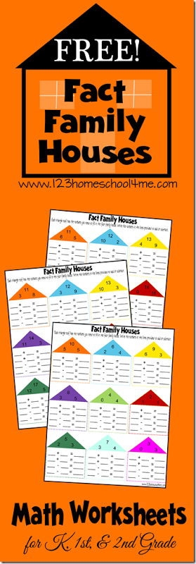 Free Math Fact Family Worksheets Free Homeschool Deals