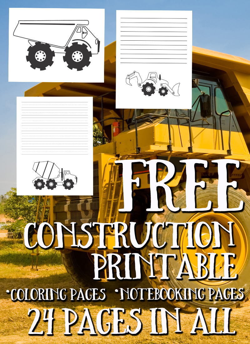 FREE Construction Printables 24
