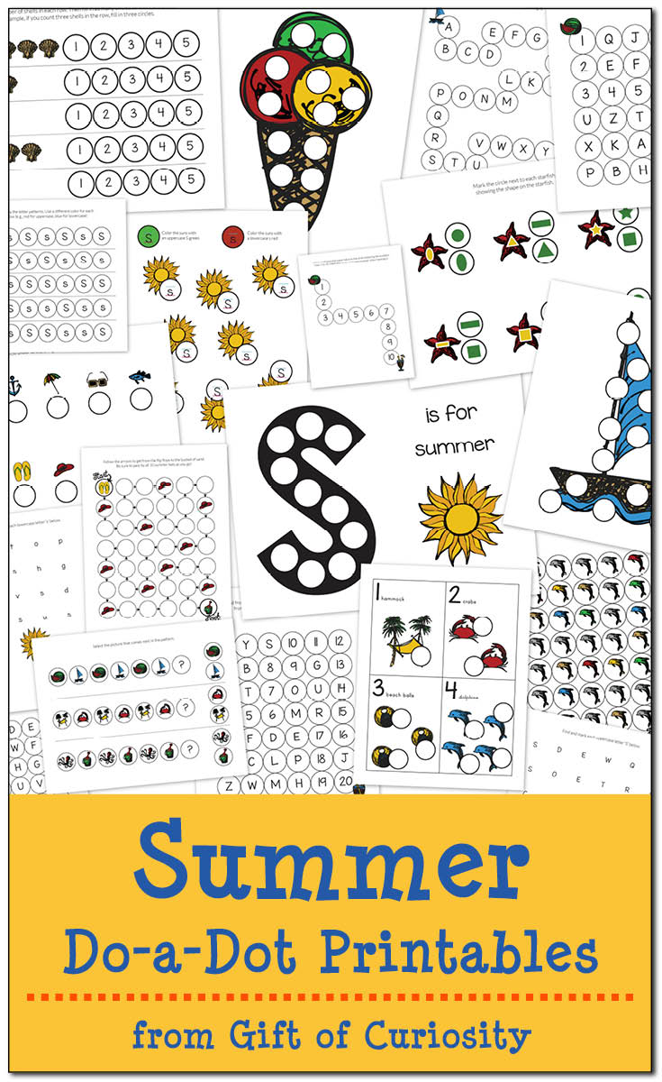 Summer Themed Worksheets: FREE Summer Themed Dot-a-dot Printables (19 Pages!)