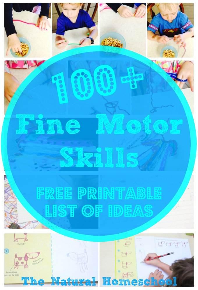 free fine motor skills activities printable list free homeschool deals. Black Bedroom Furniture Sets. Home Design Ideas
