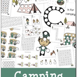 FREE Camping Do-a-Dot Printables Pack