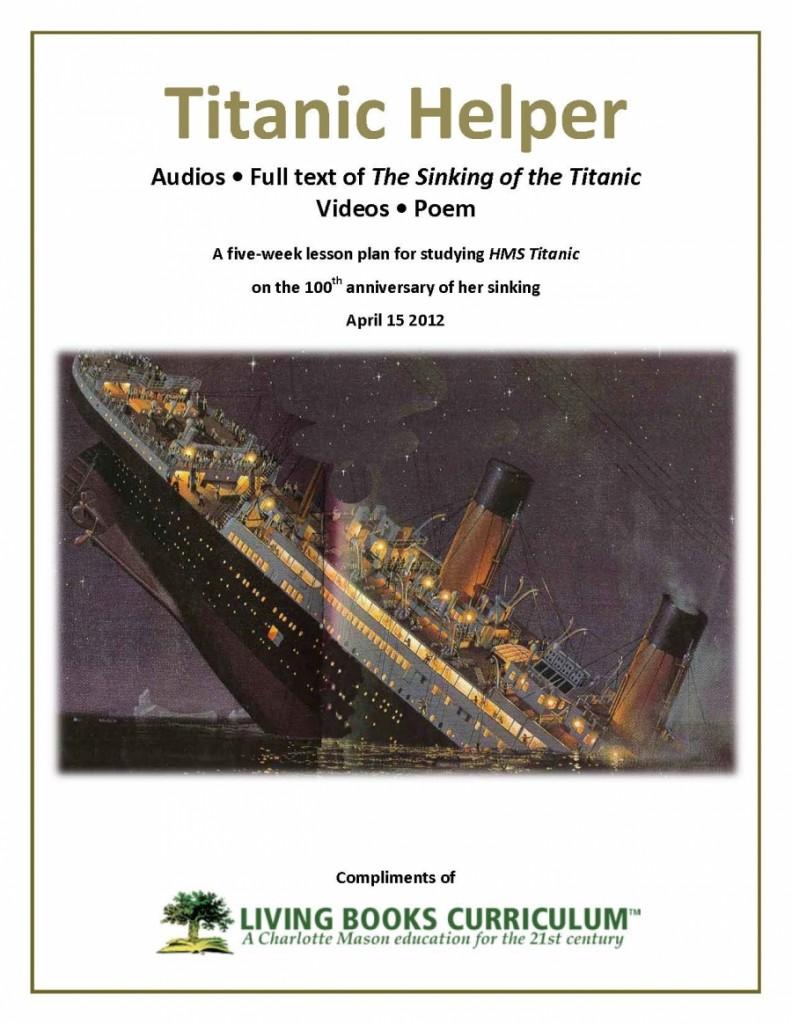 free titanic unit study free homeschool deals