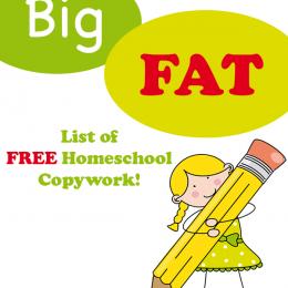 The BIG FAT LIST of Free Homeschool Copywork
