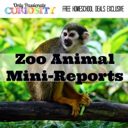 FREE ZOO ANIMAL MINI-REPORTS (Instant Download)