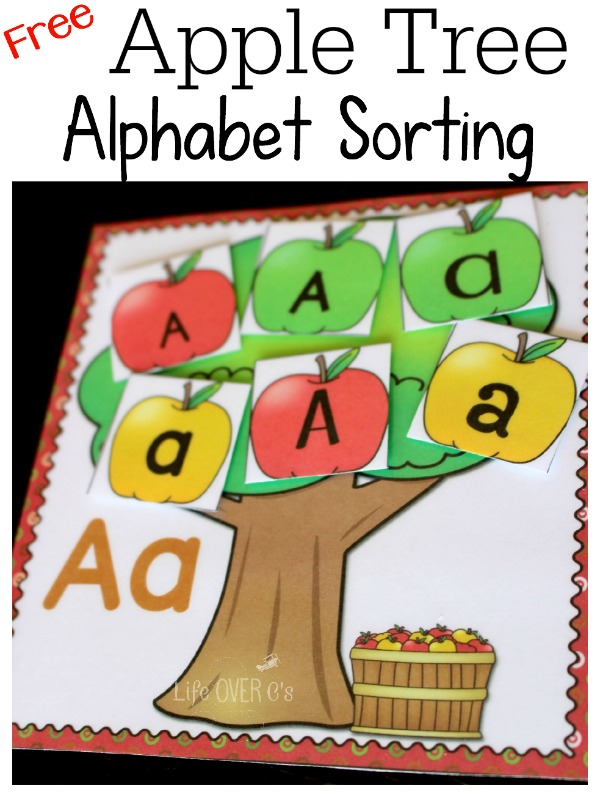 Free Alphabet Apple Sorting Activity Free Homeschool Deals