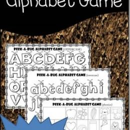 FREE Alphabet Bug Games