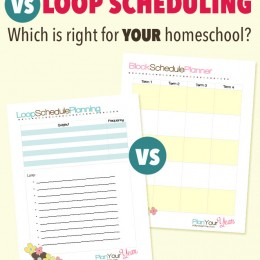 FREE Printable Block or Loop Schedule