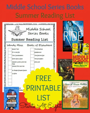 Reading list for american middle school