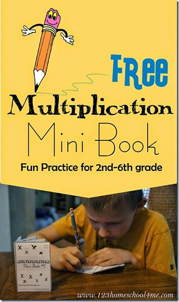 FREE Multiplication Mini Book