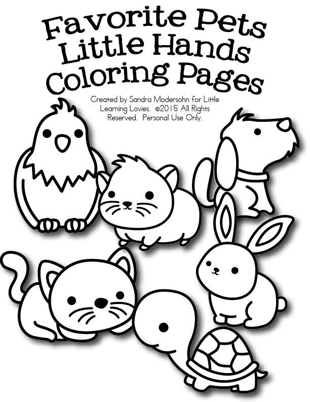FREE Set of Pet Coloring Pages | Free Homeschool Deals ©