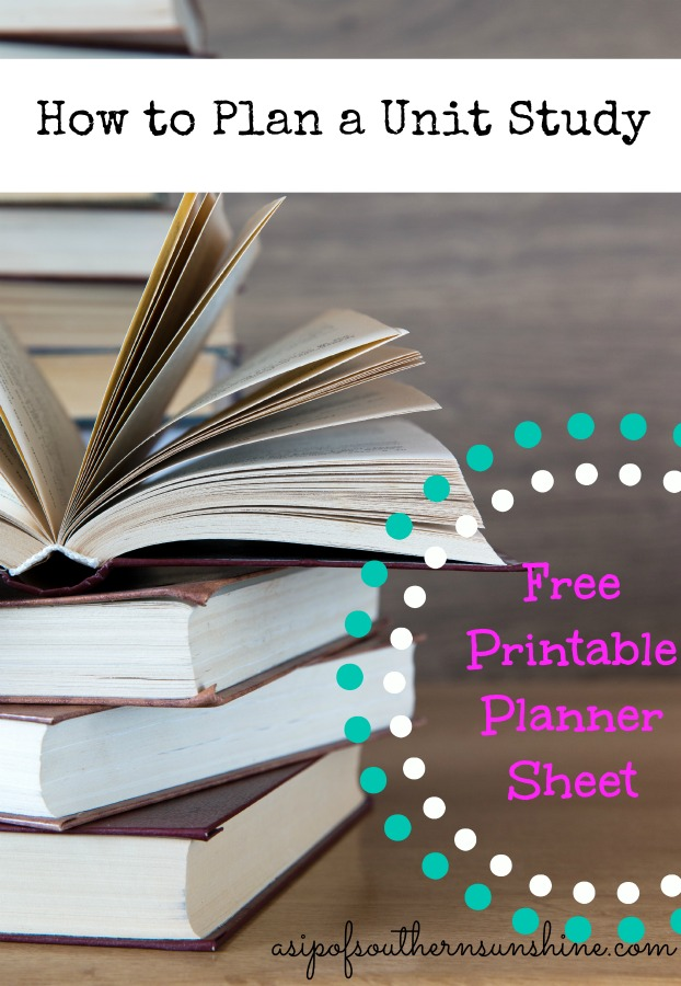FREE Unit Study Planner | Free Homeschool Deals