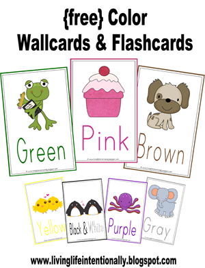 free color wall card and flashcards free homeschool deals. Black Bedroom Furniture Sets. Home Design Ideas