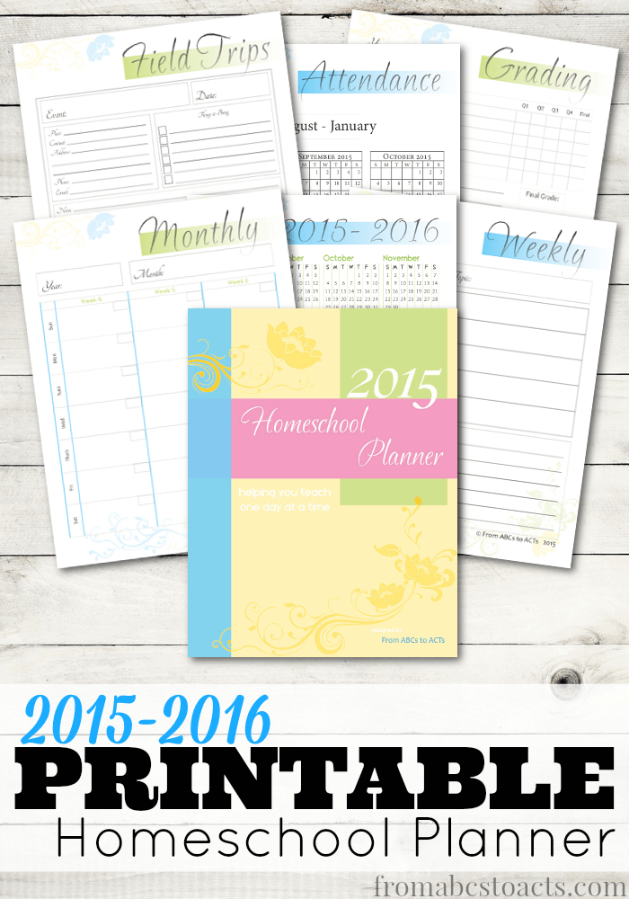 printable weekly school planner pages