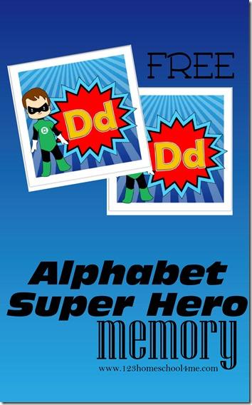 Free Alphabet Superhero Memory Game Instant Download