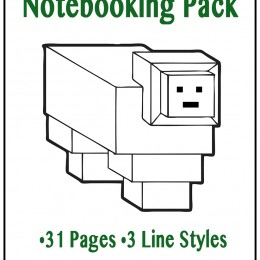 FREE Minecraft Notebooking Pages Pack