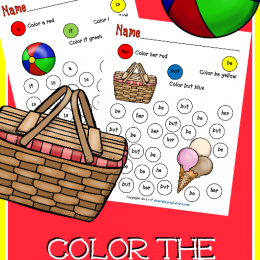 FREE Color The Sight Word Printables