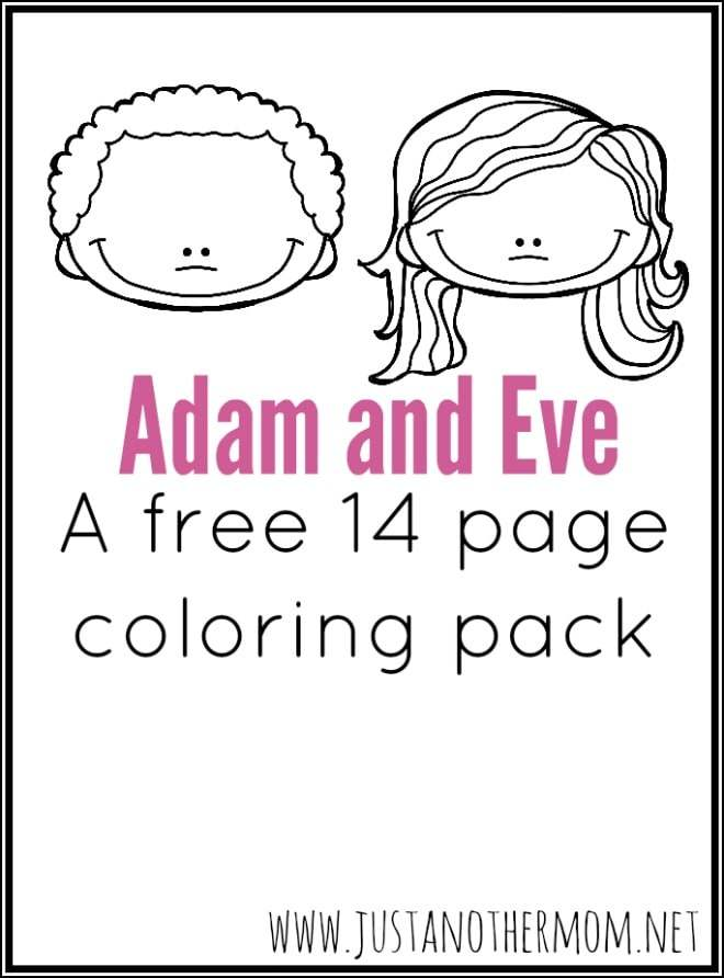 Adam And Eve For Kids Coloring Pages