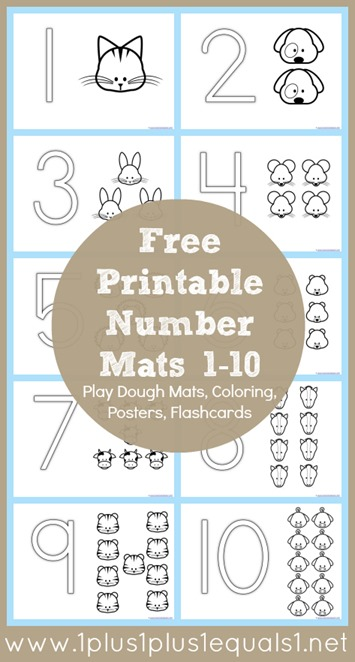Free Number Coloring Mats Free Homeschool Deals