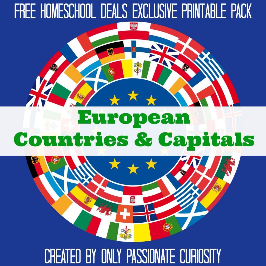 Free European Countries & Capital Pack