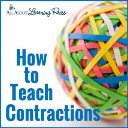 Free Teaching Contractions Lesson + Free Printable