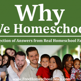 Why We Homeschool: A Collection of Answers from Real Homeschool Families