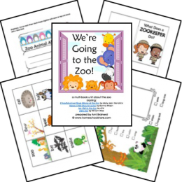 FREE We're Going to the Zoo Lapbook