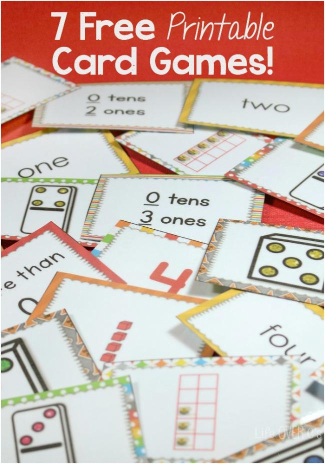Math Games With Cards - Rachel K Tutoring Blog  Math Card Games