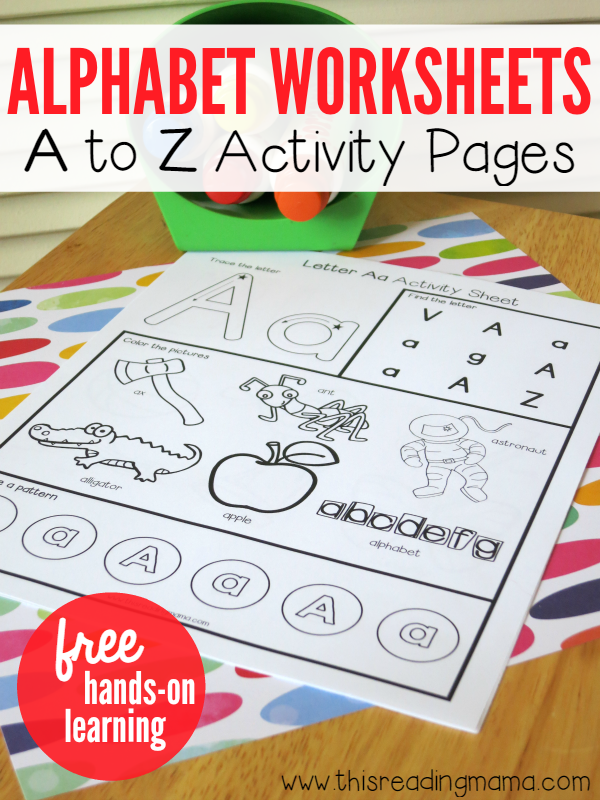 free alphabet worksheets a to z activity pages free homeschool deals. Black Bedroom Furniture Sets. Home Design Ideas
