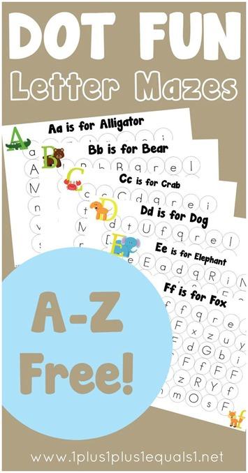 Free Dot Letter Mazes For Preschoolers Free Homeschool