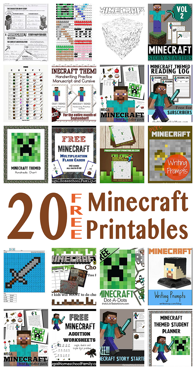 Free Minecraft Learning Resources 20 Free Homeschool