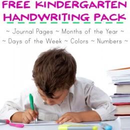 FREE Kindergarten Handwriting Pack