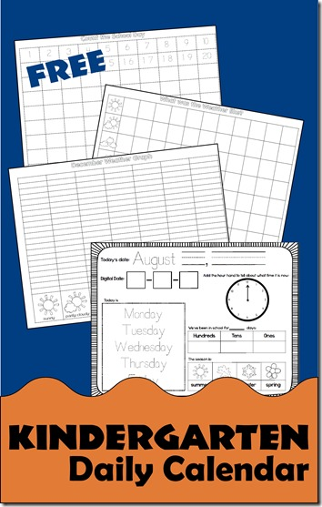 Kindergarten Daily Calendar Smartboard : Free daily kindergarten calendar for use